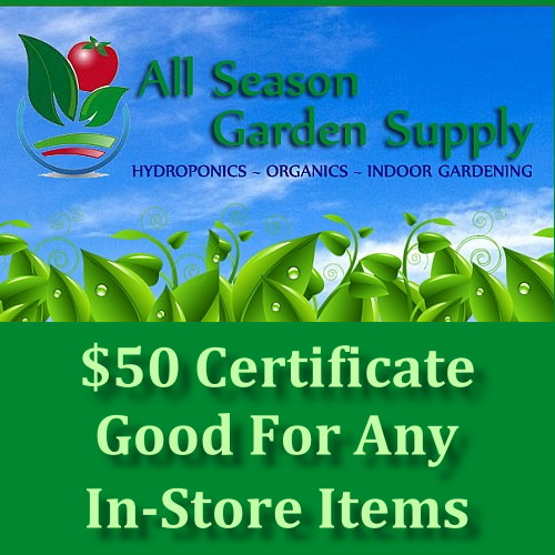$50 Gift Certificate good for any  in store items