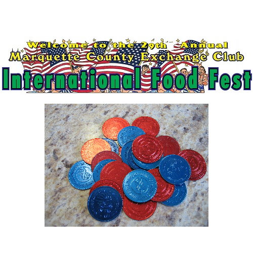 One Bag of 25 Food Fest Tokens for the 29th Annual International Food Fest
