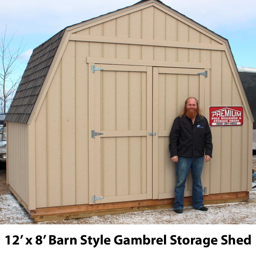 8' by 12' Gable Roof Storage Shed