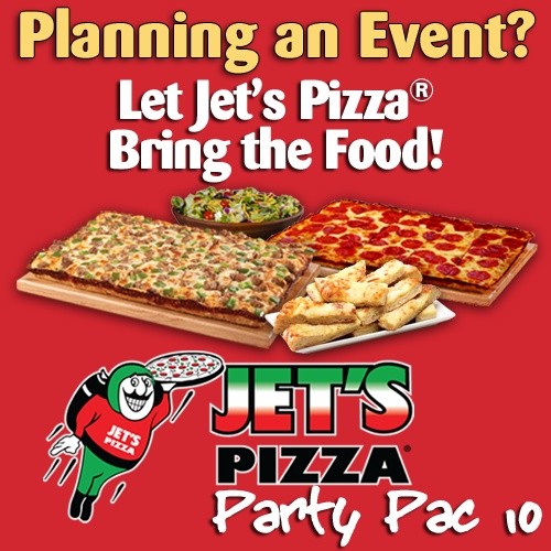 Jet's Pizza® Catering for 60 people - Party Pac #10
