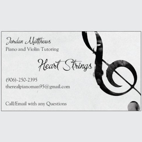 (4) 1/2 Hour Violin or Piano Lessons