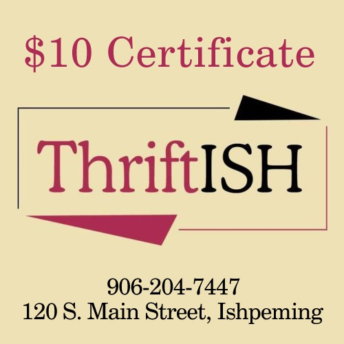 $10 Certificate towards anything in the Store