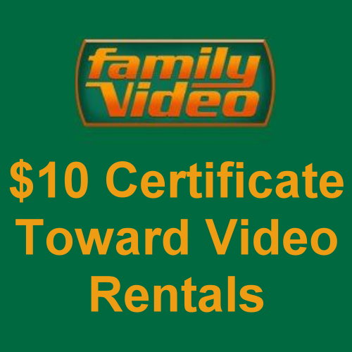$10 Certificate for Video Rentals
