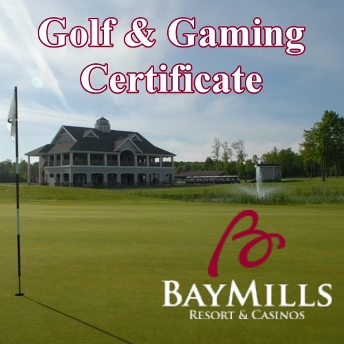 Golf and Gaming Certificate