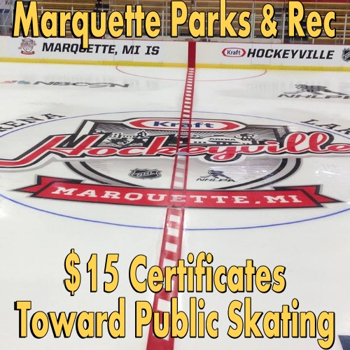 $15 Certificate Toward Public Skating
